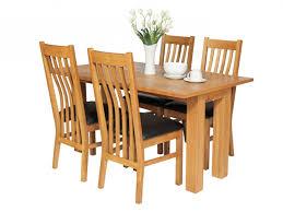lichfield 140cm flip top extending oak table u0026 4 x chelsea brown