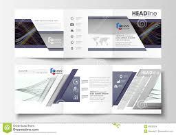 set of business templates for tri fold square brochures leaflet