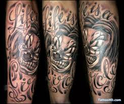 evil clown faces tattoo design tattoos book 65 000 tattoos designs