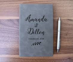 engravable wedding guest book personalized guest book for wedding anniversary engraved wedding
