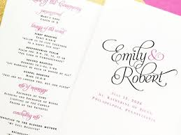 folded wedding program wedding programs bifold folded wedding programs wedding order of