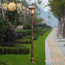 aluminum glass classical outdoor l post garden lights focos led