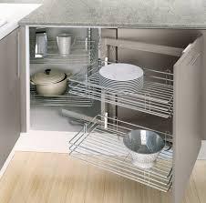 rangement pivotant cuisine d angle avec 4 paniers fil chromé brico dépôt