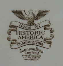 vintage johnston bros historic america thanksgiving serving platter