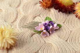 MADEHEART Handmade decorative hair b with cold porcelain