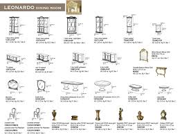 Dining Room Table And China Cabinet by Leonardo Dining Classic Formal Dining Sets Dining Room Furniture