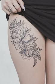 flowers on thigh flowers on vine tattoo flowers and vine leg piece tattoos photos