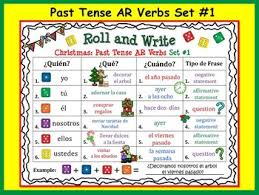 write the pattern of past tense and give exle spanish christmas past tense verb activities by debbie wood tpt