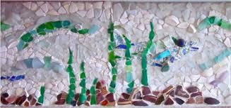 Beach Backsplash Ideas Sand And Sisal - Sea glass backsplash