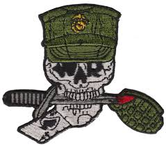 Alfa Img Showing Gt French Country Style U S Us Marine Corps Usmc Skull Iron On Patch Knife Grenade Ace Of