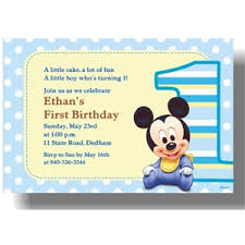 mickey mouse 1st birthday boy mickey mouse 1st birthday invitations template best template