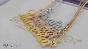 Name Chain How To Make A Handcrafted Name Necklace Youtube