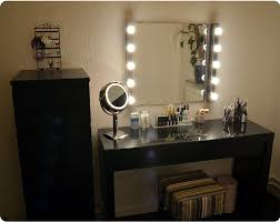 makeup dresser with lights vanity table with lighted mirror ikea creative desk decoration