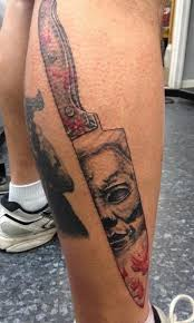 michael myers ink pinterest leg tattoos michael myers