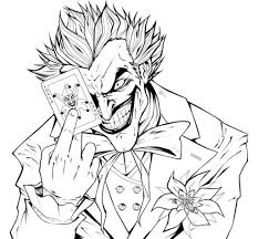 online printable coloring page of joker the super villain famous