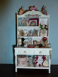furniture white dollhouse bookcase with four tier for home