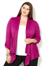 plus size cardigan from avenue plus model magazine
