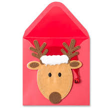 handmade reindeer head christmas greeting cards papyrus