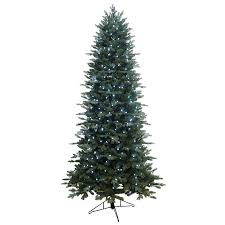 shop ge 7 5 ft pre lit aspen fir artificial tree with