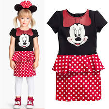 Mickey Mouse Toddler Costume Aliexpress Com Buy Children Summer Minnie Mouse Dress Baby Girls