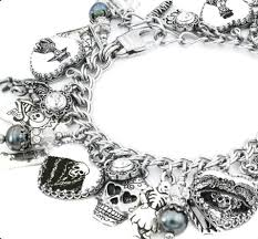 black bracelet charms images Day of the dead charm bracelet dia de los muertos charm jpg