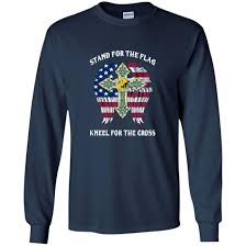 Packer Flags Green Bay Packers Stand For The Flag Kneel Fo The Cross Shirt