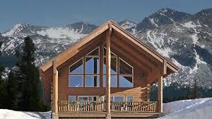 Home Design 1 1 2 Story Log Home Design Plan And Kits For North Fork