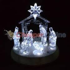 20cm premier acrylic nativity scene christmas decoration lights