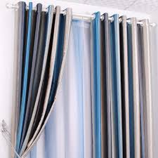 Blue Striped Curtains Curtains Blue And Green Striped Curtains Inspiration Blue And
