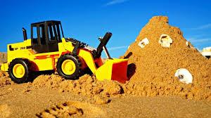 tracteur en bois vidéo de jeux de construction jeux de plage tracteur et le