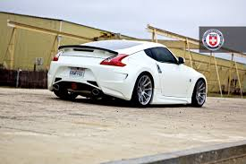 nissan 370z spoiler kit nissan 370z white hre p43sc brush tinted by hre wheels wheels