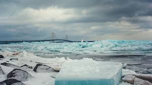 Michigan Lakes images Why the ice on michigan 39 s great lakes turned blue jpg