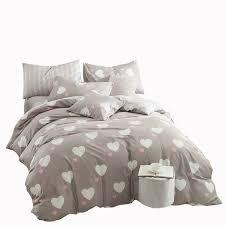 love designer bedding set 100 cotton duvet cover romantic heart