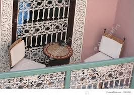 balcony of a riad in morocco image