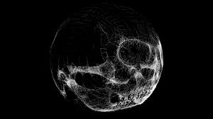 techno halloween background high tech halloween jackolantern skull glitch globe 3d animation