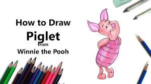 draw piglet winnie pooh color pencils