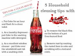 6 household cleaning tips with coca cola