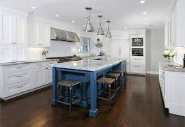 white kitchen cabinets with blue island transitional white kitchens with newbury blue island