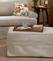 l l bean pine point slipcovered storage ottoman furniturendecor com