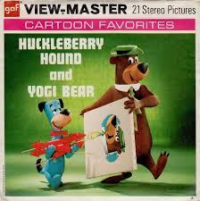 the huckleberry hound show huckleberry hound u0026 yogi bear hanna barbera view master set 1960