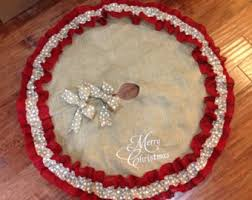 burlap tree skirt christmas tree skirts etsy beneconnoi