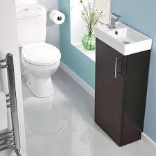 compact cloakroom suites toilets sink vanity unit sets milano ebony minimalist floor standing cloakroom suite