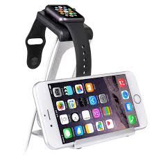 Wall Mounted Cell Phone Charging Station by Aluminum Dual Stand Charging Duo For Apple Watch U0026 Iphone Dock