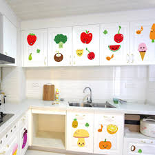 Cartoon Wall Painting In Bedroom Fruits Kitchen Wall Sticker Children Bedroom Living Room