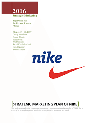 strategic marketing plan of nike pdf download available