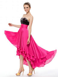 buy tailor made cute sweetheart chiffon sequined crystal pink