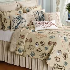 theme bedding for adults coral seashells starfish bedding set and pillows with