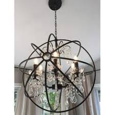Sphere Chandelier With Crystals The Most Amazing Light Fixture Industrial Looking Globe