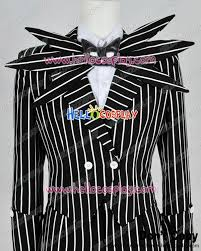 Jack Pumpkin King Halloween Costume Nightmare Christmas Cosplay Jack Skellington Black