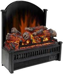 electric fireplace insert log set glowing embers ambiance